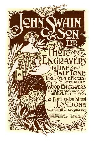 Advertisement for John Swain and Son, Printers, 1901