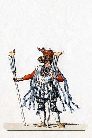 Musician, Costume Design for Shakespeare's Play, Henry VIII, 19th Century