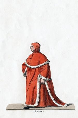 Judge, Costume Design for Shakespeare's Play, Henry VIII, 19th Century