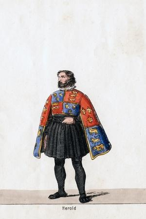 Herald, Costume Design for Shakespeare's Play, Henry VIII, 19th Century
