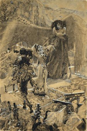 Tamara's Dance. Illustration to the Poem the Demon by Mikhail Lermontov, 1890-1891
