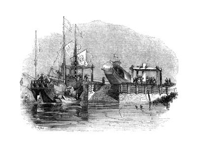 Boat Drawn over a Sluice or Lock on a Canal, 1847