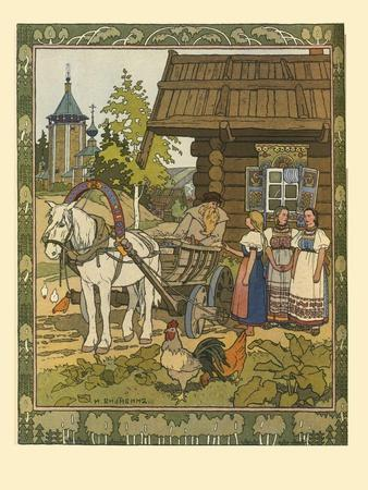 Illustration for the Fairy Tale the Feather of Finist the Falcon, 1901-1902