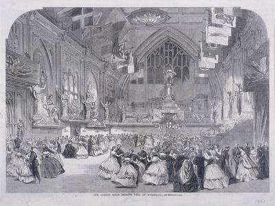 London Rifle Brigade Ball at Guildhall, London, 1861
