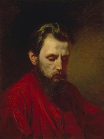 Portrait of the Painter Vyacheslav Grigoryevich Schwarz (1838-186), 1870