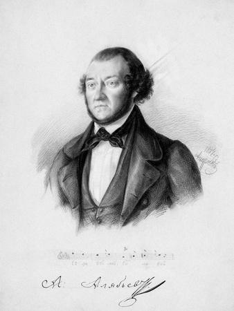 Portrait of the Composer Alexander Aleksandrovich Alyabyev (1787-185), 1844