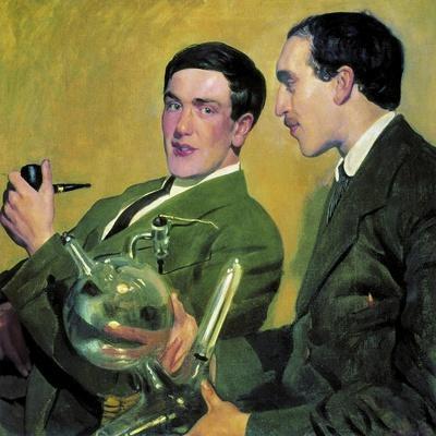 The Physicists Pyotr Kapitsa (1894-198) and Nikolay Semyonov (1896-198), 1921
