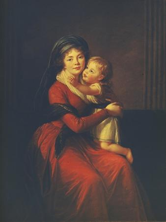 Portrait of Princess Alexandra Golitsyna with Her Son Pyotr, 1794