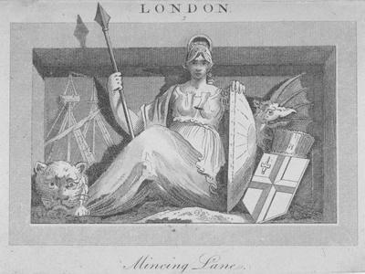Sculptural Panel in Mincing Lane, City of London, 1815