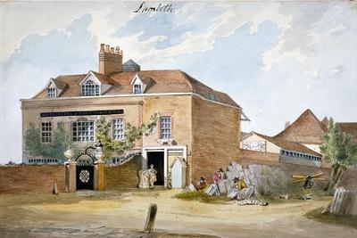 Coade Stone Factory, Narrow Wall, Lambeth, London, C1800