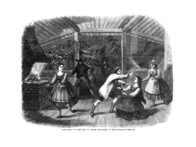 Scene from the Play Sunny Vale Farm, Performed at the Haymarket Theatre, London, 1864