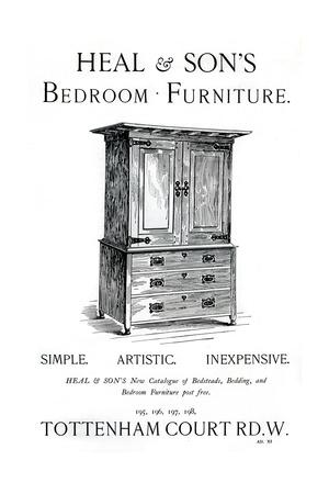 An Advertisement for Heal and Son's Bedroom Furniture, 1898