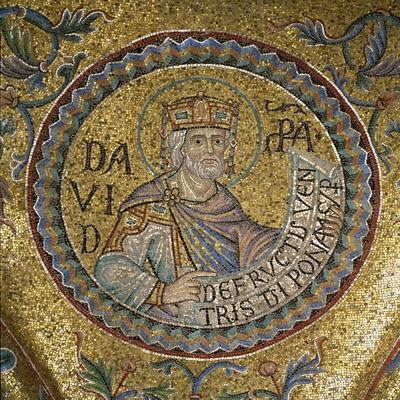 King David (Detail of Interior Mosaics in the St. Mark's Basilic), 13th Century