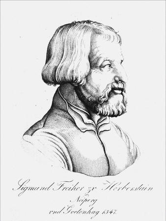 Portrait of Baron Sigmund Von Herberstein, Ambassador in Poland and Russia, 1547
