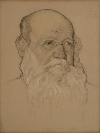 Portrait of the Revolutionary Count Pyotr A. Kropotkin (1842-192), 1920-1921