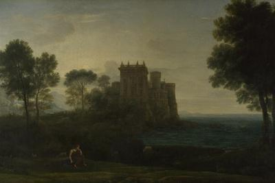 Landscape with Psyche Outside the Palace of Cupid (The Enchanted Castle), 1664