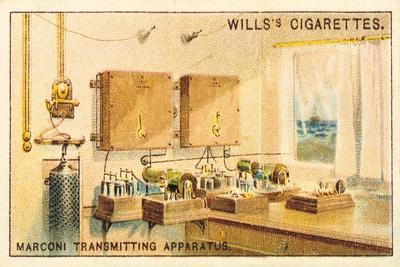 Interior of a Marconi Radio Transmitting Station, 1915