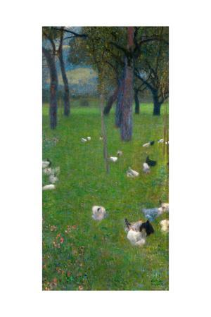 After the Rain (Garden with Chickens in St. Agath), 1898
