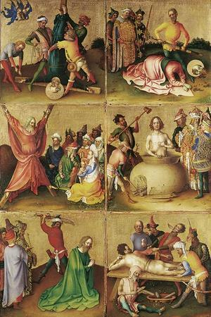 Martyrdom of the Apostles. Left Panel