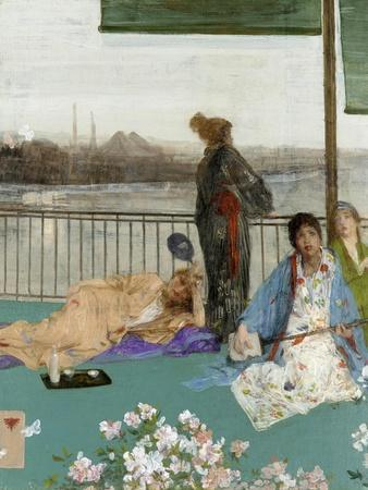 Variations in Flesh Colour and Green: the Balcony, C. 1870