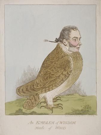 An Emblem of Wisdom Made of Wood, 1820