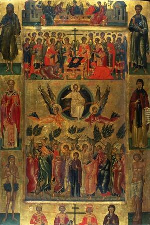 The Ascension of Christ with the Hetoimasia, 15th Century
