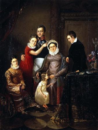Portrait of the Family of Prince Nikolay Repnin-Volkonsky, 1820S