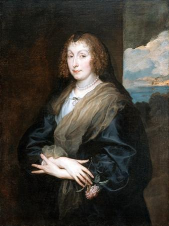 Portrait of a Woman with a Rose, Between 1635 and 1639