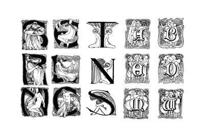 A Set of Decorative Initial Letters, 1898