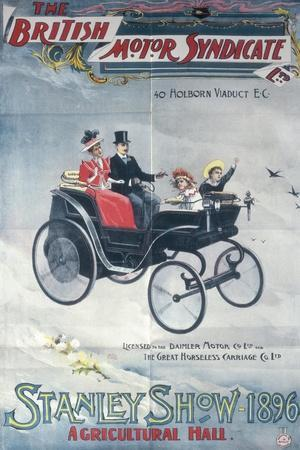 Poster Advertising the British Motor Syndicate Stanley Show, 1896