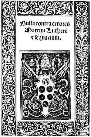 Title Page of Leo X's Papal Bull, 1520