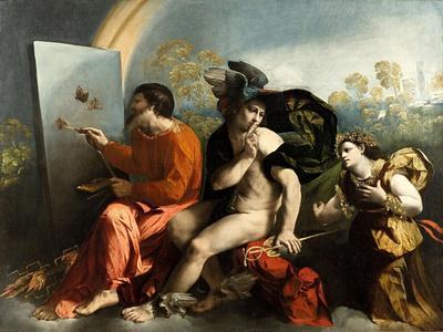 Jupiter, Mercury and the Virtue (Jupiter Painting Butterflie)