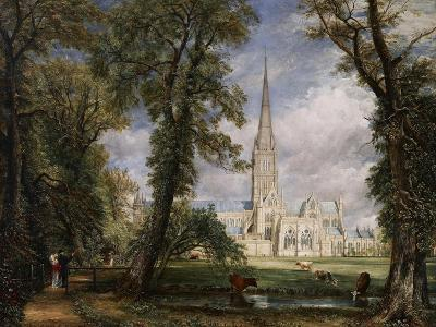 Salisbury Cathedral from the Bishop's Garden, 1826