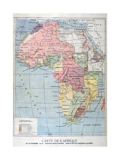 Map Of Africa French.A Map Of Africa After The The Anglo French Convention 1899