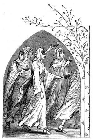 The Wise Virgins Going to Meet the Bridegroom, their Lamps Shining Brightly, 1883