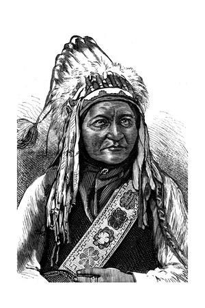 Chief Sitting Bull, American Indian, 19th Century