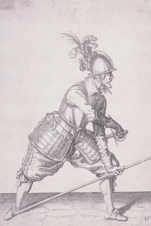 Figure in Military Clothing Holding a Pike in One Hand and a Sword in the Other, 1607