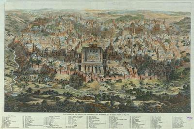 The Jerusalem Map (Vue Générale De Jérusalem Historique Et Modern), Ca 1862