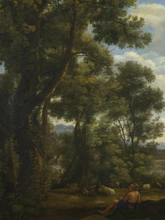 Landscape with a Goatherd and Goats, Ca 1637
