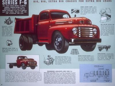 Poster Advertising a Ford Truck Series F-6, 1947
