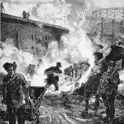Quenching Coke, South Metropolitan Gas Company's Works, East Greenwich, London, 1891