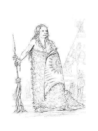 Smoke, Chief of the Ponca Tribe, 1841