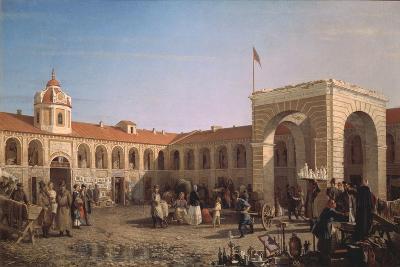 Apraksin Market in St. Petersburg, 1862
