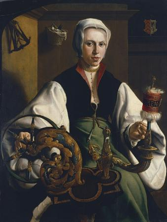 Portrait of a Lady Spinning, Ca 1531