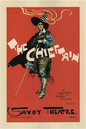 Poster for the Oper the Chieftain, 1894