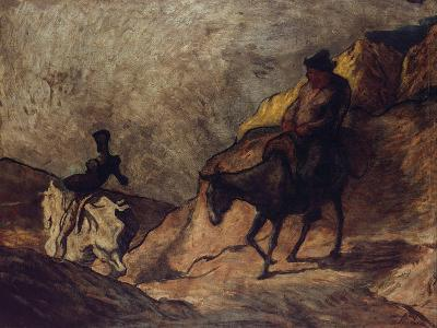 Don Quixote and Sancho Panza, 1866-1867