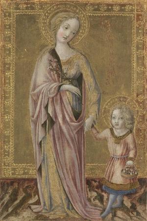 Saint Dorothy and the Infant Christ, Ca 1460