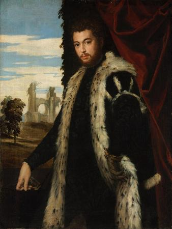 Portrait of a Young Man Wearing Lynx Fur