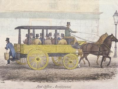 Post Office Accelerator with Passengers, Holborn, London, C1830