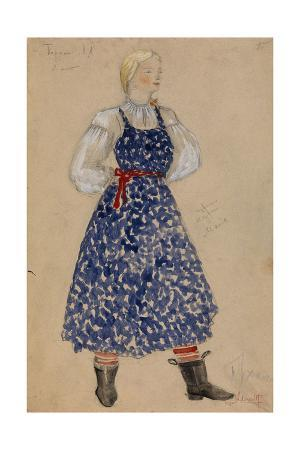Costume Design for the Play a Profitable Post by Alexander Ostrovsky, 1949